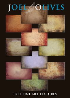 Free fine art textures... check my blog.  http://www.joelolives.com