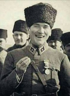Your smile was beautiful, peace. We need you Atatürk. Turkish Army, The Legend Of Heroes, The Turk, Great Leaders, World Peace, Camping And Hiking, Historical Pictures, Nostalgia, Winter Hats