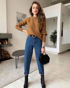 Stylish Winter Outfits, Cute Casual Outfits, Winter Fashion Outfits, Autumn Fashion, Casual Winter, Stylish Outfits, Casual Dresses, Fashion Mode, Look Fashion