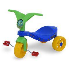 0744.3 - Triciclo Pop Birds | Triciclo de pequeno porte, super colorido, com excelente acabamento e brilho. A grande inovação neste modelo é o sistema de encaixe das rodas traseiras, garantindo assim uma maior resistência. Vem com adesivos para a criançada decorá-lo como quiser. | Faixa Etária: +2 anos | Medidas: 55 cm | Triciclos | Xalingo Brinquedos | Crianças