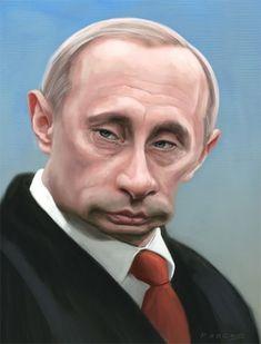 Vladimir Putin Caricature by Anthony Pascoe