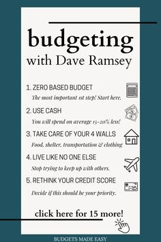 Ready to take control of your money? You need to check out these top 20 beginner tips from Dave Ramsey! Everything you need to know to help you make better choices with your money so you can take control of your finances. Budgeting Finances, Budgeting Tips, Money Problems, Budget Spreadsheet, Making A Budget, Budgeting Worksheets, Budget Template, Money Today, Managing Your Money