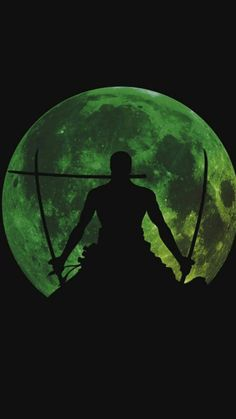 Roronoa Zolo / Roronoa Zoro in front of green moon, silhouette One Piece Meme, One Piece Figure, One Piece Series, Anime One Piece, One Piece Comic, Zoro One Piece, One Piece World, Madara Wallpapers, Animes Wallpapers