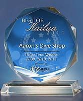 """If you know Aaron, you don't know Jack!""    Highly recommended Dive Shop in Oahu."