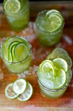 A refreshing pitcher of cucumber mezcal margaritas made from cold pressed cucumber juice, smoky mezcal, orange liqueur, and lime juice. Use #AzuniaTequila's organic Agave Syrup!