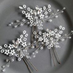 Bridal hair piece Gypsophila wedding hair pin Babys breath