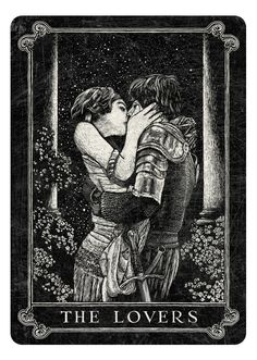 Arcana playing cards-inspired by Tarot-artwork by Chris Ovdiyenko at deadonpaper.com The Lovers