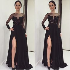 Beautiful Prom Dress, black prom dresses lace evening dress sexy prom dress prom dresses with long sleeves charming prom gown open back prom dress mermaid fashion evening gowns for teens Meet Dresses Open Back Prom Dresses, Prom Dresses 2016, Prom Dresses Long With Sleeves, Black Evening Dresses, Black Prom Dresses, Mermaid Prom Dresses, Sexy Dresses, Dress Prom, Dress Black