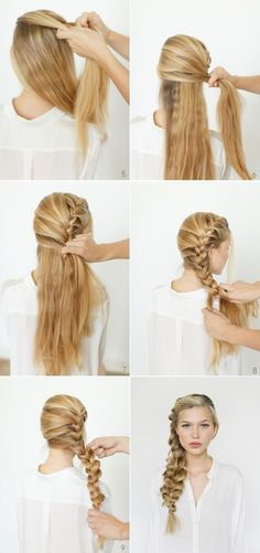 Imagen vía We Heart It https://weheartit.com/entry/140041793/via/24135235 #blonde #braid #cute #diy #fashion #girl #hair #long