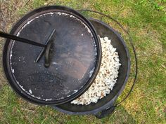 Our air popper died on us several weeks ago, and we've been missing this staple snack around our house. So this week we pulled out the Dutch oven and tried our hand at popping popcorn like our intrepid pioneer ancestors. Next to bannock, this is probably the easiest thing you'll ever cook over a fire. All you need is a Dutch oven, cooking oil, and a good-quality popping corn, plus a hot, hot fire. We cooked ours over a log fire, but briquets work as well and may provide a more even cook...