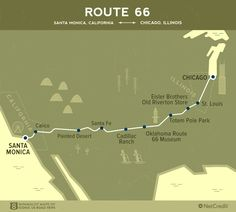 Get your kicks on Route 66 with these supercool roadmaps — L.- Get your kicks on Route 66 with these supercool roadmaps - Usa Roadtrip, Road Trip Usa, Route 66 Road Trip, Travel Route, Travel Maps, Travel Usa, Travel Oklahoma, Route 66 Map, New Orleans