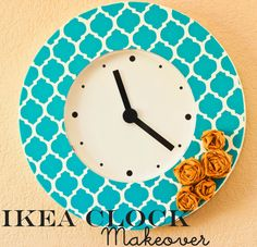 love this stenciled clock makeover