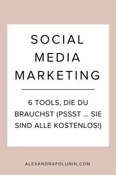 6 kostenlose Tools für dein Social-Media-Marketing: Evernote, Canva, Hootsuite und Co. #socialmediamarketing #onlinetools #bloggingtipps #evernote #canva #pocket #hootsuite