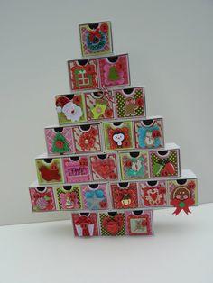 Calendario de Adviento árbol de Navidad por MyLilPumpkins en Etsy