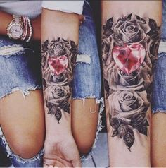 crystal-heart-cute-couples-tattoos.jpg (500×505)