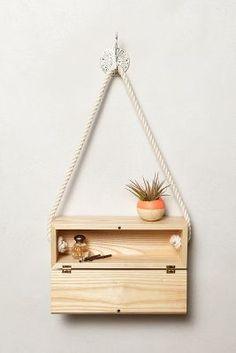 Light+Ladder hanging wood block w/ hinge door