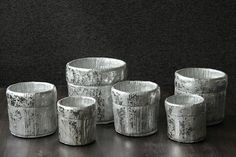 Daydream.Potten grijs/zilver. Woonaccessoires. Home deco. Napkin Rings, Candle Holders, Candles, Home Decor, Decoration Home, Room Decor, Porta Velas, Candy, Candle Sticks
