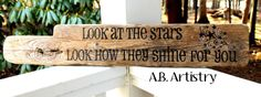 Look at the stars....hand painted driftwood
