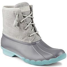 Sperry Topsider Womens Saltwater Duck Boot 75M GreyNatural * Click image to review more details.(This is an Amazon affiliate link and I receive a commission for the sales)