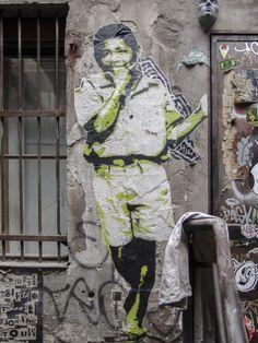 Streetart / Graffiti, Location: Berlin / Germany, Subject: Nelson Mandela?, Photographer: Wolfgang Jackson Steidle