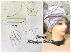Turban Headband Tutorial, Scarf Tutorial, Turban Headbands, Hat Patterns To Sew, Dress Sewing Patterns, Baby Doll Carrier, Head Scarf Styles, Head Wrap Scarf, Fashion Sewing