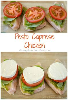Pesto Caprese Chicken Easy 21 Day Fix approved! (Bake Chicken 21 Day Fix) 21 Day Fix Diet, 21 Day Fix Meal Plan, Baked Caprese Chicken, Soy Chicken, Pesto Chicken, Marinated Chicken, Low Carb High Protein, Cooking Recipes, Bodybuilding Workouts
