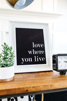 free printable love where you live print