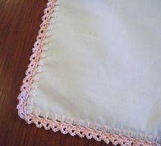 crochet edge hankie tutorial