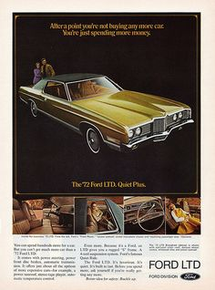 "1972 Ford LTD Brougham 2-Door Hardtop --This was my ""boat"" as friends saw it coming from a block away!"
