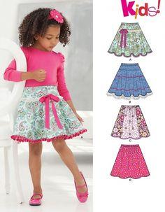 New Look 6258 New Look 6258 différentes jupes pour enfants, tailles 3 à 12 ans
