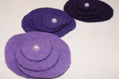 A pretty TUTORIAL to help decrease obssessive hoarding of felt - {CIRCLE FLOWERS FROM FELT}