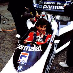 Ayrton Senna in the months before signing his F1 contract with Toleman did a test in Paul Ricard, 1983 with the Brabham BMW BT52B. Senna is invited by Bernie Ecclestone, head of the team.