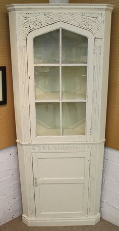 Corner Cupboard, China Cabinet, Carving, Storage, Shop, Ebay, Furniture, Home Decor, Corner Medicine Cabinet