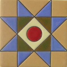Mexican tile designs | TILES AND TILES...Mexican Tiles Cuerda Seca RVL 189