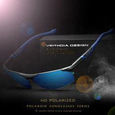 347ec49fa05 VEITHDIA Aluminum Magnesium Men s Sunglasses Polarized Blue Coating Mirror  Sun Glasses oculos Male Eyewear Accessories Men 6589-in Sunglasses from  Men s ...