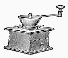 Antique Images: Digital Kitchen Image Transfer of Vintage Coffee Grinder Graphic