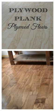 DIY Plywood Plank Floors.  Everyone who sees them cannot believe they are made of plywood! One Room Challenge Week 4 - redcottagechronicles.com