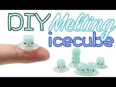 Kawaii Melting Ice Cubes polymer clay & resin tutorial