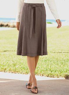 Summer Skirt - Shoreline Linen Zigzag Skirt