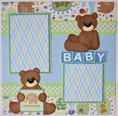 scrapbook layout baby   Baby Boy Scrapbook Pages