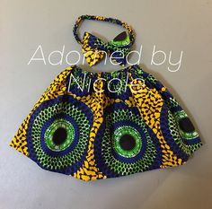 Girls African Print Skirt and Headband by AdornedbyNicole on Etsy - African Print Jumpsuit, African Print Skirt, African Print Dresses, African Fashion Dresses, African Fabric, Baby African Clothes, African Dresses For Kids, African Babies, African Wear