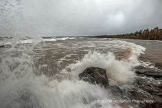 I took this photo as I was being swamped by a massive Lake Superior wave (or was it a tsunami?) during the potent fall storm on 10/24/17. I thought I was at a safe distance, but the power of the big lake is incredible.