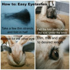 8 Easy Steps To Needle Felted Animal Eyes – How To Needle Felt With Lincolnshire Fenn Crafts Needle Felting Kits, Needle Felting Tutorials, Needle Felted Animals, Wet Felting, Felt Crafts Patterns, Crochet Crafts, Crochet Ideas, Felt Puppets, Felt Bunny