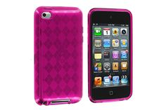 Checkered Pattern Flexible Soft TPU Rubber Protector Cases for iPod touch 4th Gen | Lagoo Tech