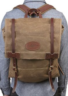 Frost River Wax Cotton & Leather Backpack