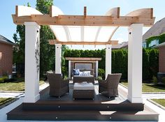 """It's our great pleasure to have our arched retractable awning as a focal point in yet another innovative Paul LaFrance Design project on HGTV's """"Decked Out"""""""
