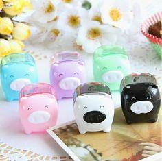 Cute Mini Pig Pencil Sharpener Mechanical for School Kids Gift 1pc Sell | eBay