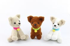 Free amigurumi patterns by StringyDingDing. Visit our site to find many cute free amigurumi crochet patterns. Crochet Dog Patterns, Amigurumi Patterns, Amigurumi Doll, Crochet Gratis, Crochet Toys, Free Crochet, Crochet Easter, Cute Chihuahua, Chihuahua Puppies