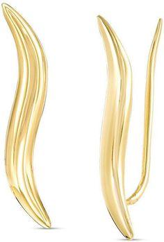 Zales Wavy Crawler Earrings in 14K Gold