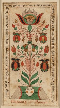 Works on Paper - Fraktur (Religious text) - Search the Collection - Winterthur Museum Illustration Photo, Cat Illustrations, German Folk, Folk Art Flowers, Religious Text, Scandinavian Folk Art, Les Religions, Watercolor Paintings Abstract, Hindu Art